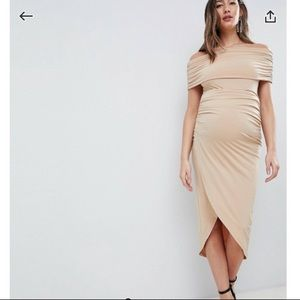 ASOS Design maternity kimmi slinky Ruched dress